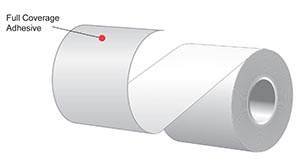"""3.125"""" x 170'  MAXStick 21# Direct Thermal """"Sticky Paper"""" (32 rolls/case) - Full Coverage Adhesive - Orange"""