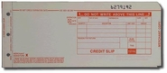"3-Part LONG (3 1/4"" x 7 7/8"") Credit Imprinter Slips (100 slips/pack) - Red"