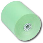 "3"" x 150'  (76mm x 46m)  1-Ply Bond Paper  (50 rolls/case) - Light Green"