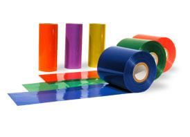 """4.33"""" x 984' Colored Thermal Transfer Wax Ribbons (RED) 24 Ribbons"""
