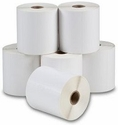 "4"" x 80' Continuous 5 Mil White Matte Inkjet Labels (12 Rolls)"