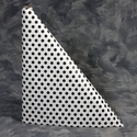 "40"" x 100'  Paper Table Cover (1 roll) - Black Polka Dot Design"