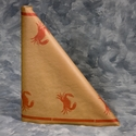 "40"" x 100'  Paper Table Cover (1 roll) - Crab Design Brown Paper"