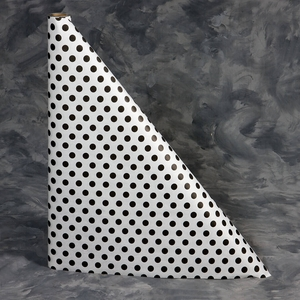 "40"" x 300'  Paper Table Cover (1 roll) - Black Polka Dot Design"