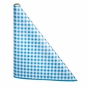 "40"" x 300'  Paper Table Cover (1 roll) - Blue / White Gingham"