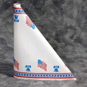 "40"" x 300'  Paper Table Cover (1 roll) - Red / White / Blue Patriotic"