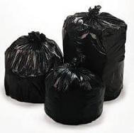 "40"" x 48"" - 12 micron Trash Bags (250 bags/case) - Black"