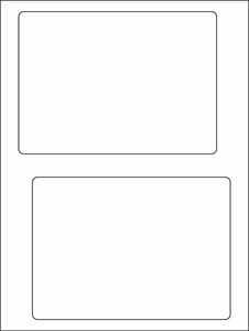 "6.78"" x 4.75""  Click-N-Ship Labels; 2 up; (250 sheets/box) - Standard White Matte"