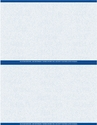 "8 1/2"" x 11"" - 2 up Laser Rx Paper (500 sheets/package) Horizontal Perf - Blue"