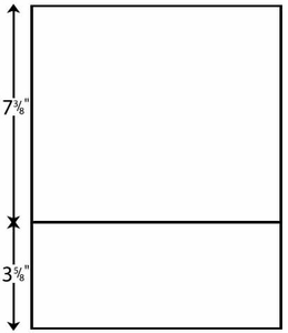 """8 1/2"""" x 11"""" - Perforated Paper 3 5/8"""" from Bottom (2,500 sheets/carton)"""