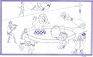 "8 1/2"" x 14"" Coloring Sheets (500 per pack) - Circus Theme"