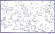 "8 1/2"" x 14"" Coloring Sheets (500 per pack) - Dinosaur Theme"