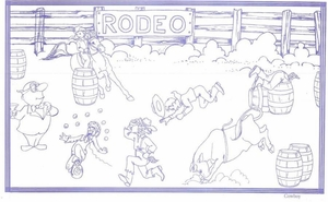 "8 1/2"" x 14"" Coloring Sheets (500 per pack) - Rodeo/Cowboy Theme"