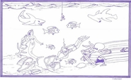 "8 1/2"" x 14"" Coloring Sheets (500 per pack) - Underwater Theme"