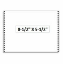 """8 1/2"""" x 5 1/2"""" - 20# 1-Ply Continuous Computer Paper (5,400 sheets/carton) - Blank White"""