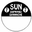 814271FG 1 Inch Circle-Sunday-Trilingual-REMOVX