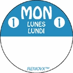 817215-3 Inch Circle-REMOVX -  Monday-Trilingual