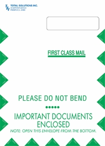"9"" X 12-1/2"" Jumbo Self-Seal Claim Form CMS1500 Envelope (500 envelopes/case) - Imprinted"