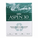 """8-1/2"""" x 11"""" ASPEN 30% Recycled Office Paper, 92 Bright, 20lb (5,000 sheets/carton) - White"""