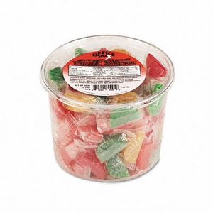 Assorted Fruit Slices Candy, Individually Wrapped, 2lb Plastic Tub