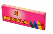 Boxed 4 Pack Crayons Premium Quality (250 Packs)
