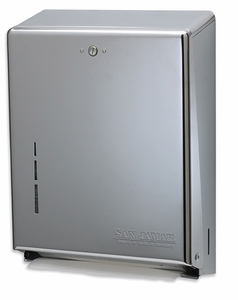 C-Fold/Multifold Paper Towel Dispenser - Stainless Steel