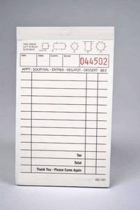 2-Part Tan Carbonless Guest Checks (5,000 checks) - 101SP