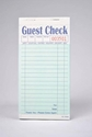 2-Part Green Carbonless Guest Checks (2,500 Checks) - G7000
