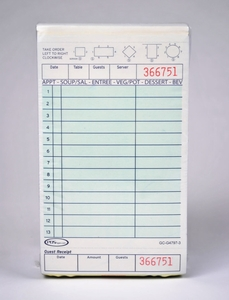 3-Part Green Carbonless Guest Checks (2,000 Checks) - G4797-3SP