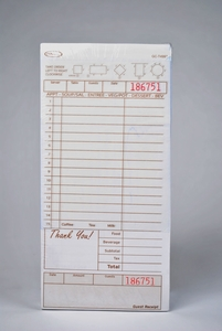 3-Part Tan Carbonless Guest Checks (2,000 Checks) - T4997SP-3