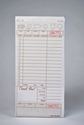 2-Part Tan Carbonless Guest Checks (2,000 Checks) - T4997SP