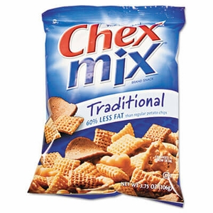 Chex Mix, Traditional Flavor Trail Mix, 3.75oz Bag, 8 Bags/Box