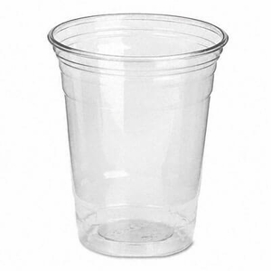 Clear Plastic PETE Cups, Cold, 12 oz., WiseSize Packs, (500 cups per carton)