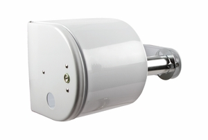 Covered Toilet Paper Dispenser - White