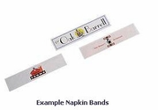 "2-Color Custom Printed Paper Napkin Bands (for 4 1/4"" x 1 1/2"" Paper Napkins) - 20,000 bands/case"