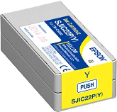 Epson SJIC22P(Y) Ink Cartridge for Epson TM-C3500 - Yellow
