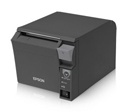 Epson TM-T70II, Front Loading Thermal Receipt Printer, Powered USB and USB, Epson Black, Power Supply Included, Req Cable