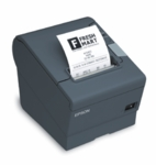 Epson Tm-t88v Thermal Receipt Printer Epson Dark Gray Usb & Usb With Db9 Serial Interfaces Includes Power Supply & ac Cable