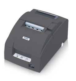 Epson TM-U220B - Impact/Receipt Printer, Serial, Dark Gray, Autocutter, Power Supply Included