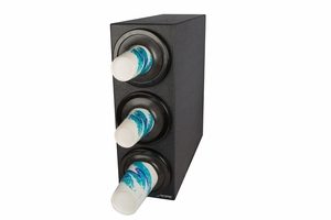 EZ-Fit Bev Dispenser Cabinet - (3) C2410C w/Black Trim Rings