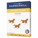 "Hammermill 8-3/8"" x 11-3/4"" Fore MP Multipurpose Paper, 96 Bright, 20lb (500 sheets/ream) - White"