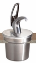 Frontline Universal 7Qt. Round Cover and Pump System - Metal Finish Pump