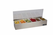 Garnish Tray - Non-Chilled - (6) 1 Pt w/Plex Lids