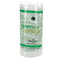 "Green Heritage 2-Ply Paper Towel Roll, 11"" x 9"" Sheets (30 Rolls)"