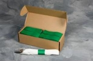 "4 1/2"" x 1 1/2"" Paper Napkin Bands (2,000 bands/pack) - Green"