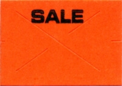 GX 1812 Garvey Fluor. Red (Sale) Labels (14,000 Labels)