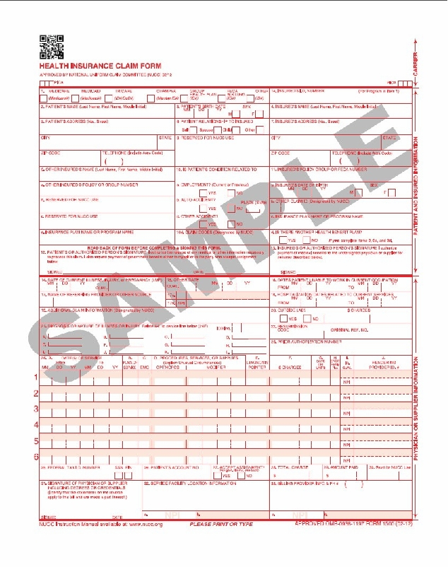 hcfa 1500 template - 28 images - cms 1500 form template downloads ...
