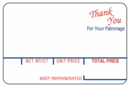"Hobart 1800 Series, 18VP / 18VPS (2.50"" x 1.65"") Thank You Scale Labels (80 rolls)"