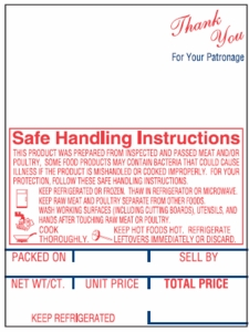 "Hobart SP-80; SP-1500 (2.25"" x 3"") Style K with Safe Handling Scale Labels (12,000 labels/case)"