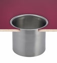 """Large In-counter Trash Chute - 6.6"""" Diameter - Stainless Steel"""